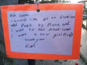 karl santa letter
