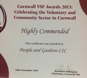 vsf awards certificate